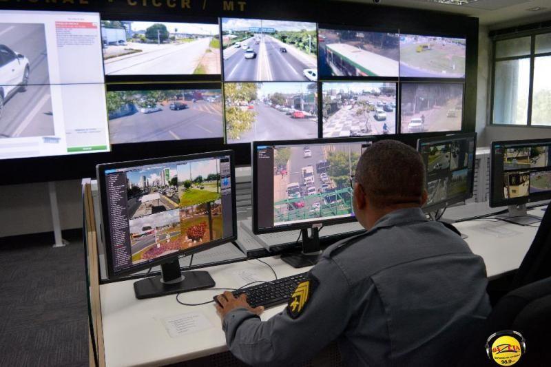 Sistema de videomonitoramento da Secretaria de Estado de Segurança Pública (Sesp).